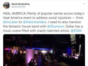 Tweet from David Sentendrey – Plenty of popular names this evening